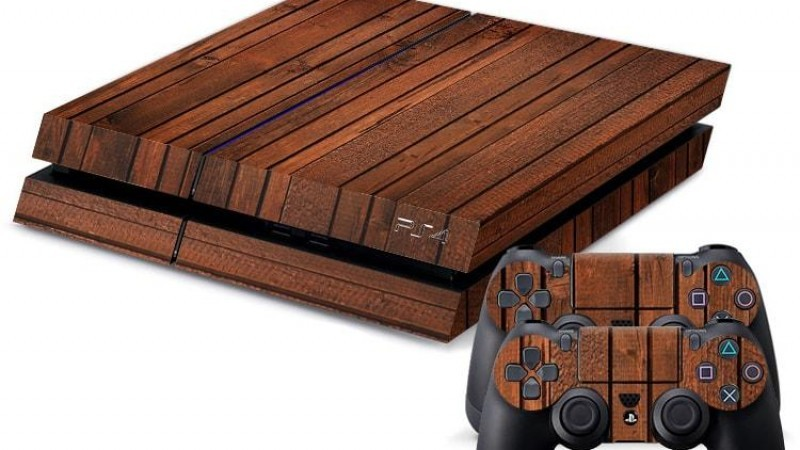 Playstation Wood Skin